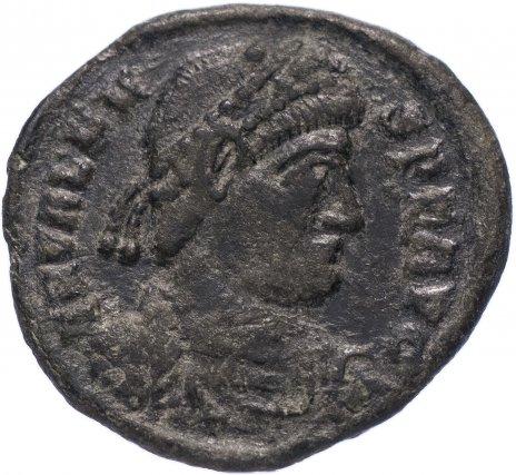 купить Римская Империя Валент II 364–378 гг фракция фоллиса (реверс: император идет вправо, волочит за волосы пленника)
