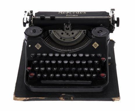 """купить Машинка печатная """"Mercedes Prima"""", металл, пластик, мануфактура """"Zella-Mehlis"""", Германия, 1930-1950 гг."""