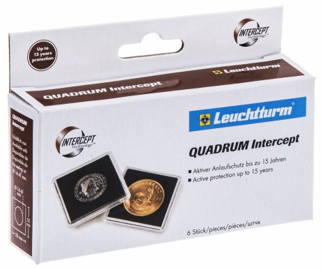 купить Капсулы Quadrum Intercept для монет 40 мм  Leuchtturm, 344165