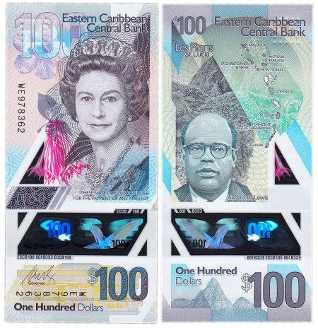 купить Восточные Карибы 100 долларов 2019 (Pick **) пластик