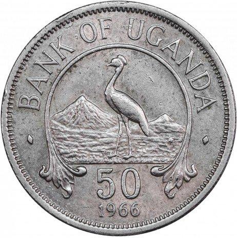 купить Уганда 50 центов 1966
