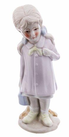 """купить Статуэтка """"Девочка с сумочкой"""", фарфор, роспись, Китай, 2000-2010 гг."""