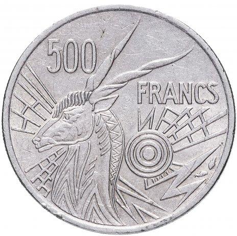 купить Центральная Африка 500 франков КФА 1982