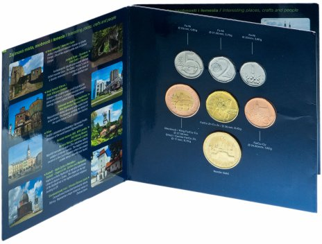 купить Чехия набор из 7 монет евро 2012, в буклете