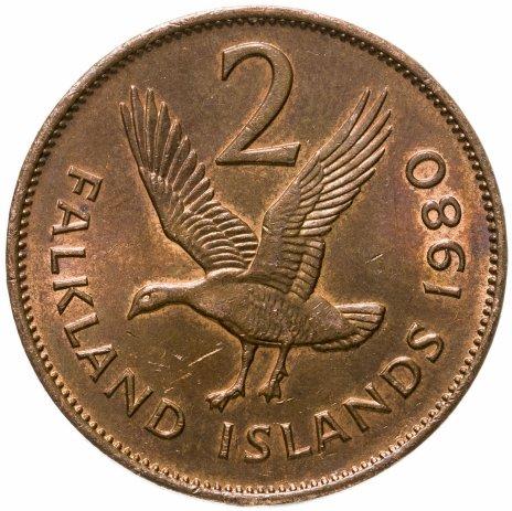 купить Фолклендские острова 2 пенса (pence) 1980