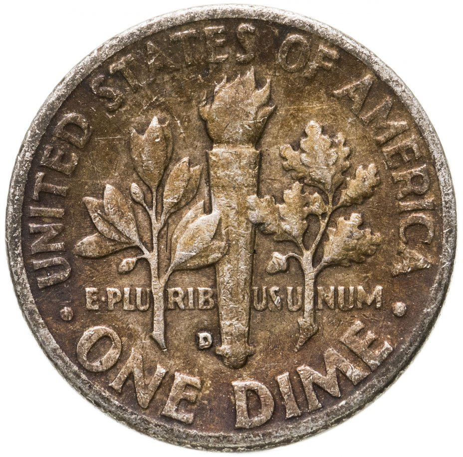 купить США 10 центов (дайм, one dime) 1949 D