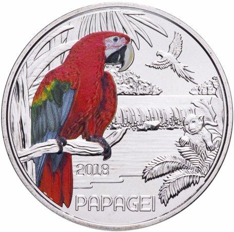 купить Австрия 3 евро 2018 Попугай