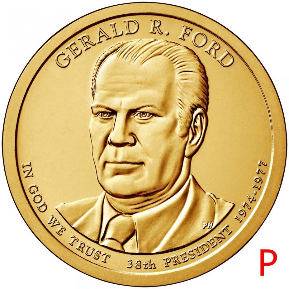 купить 1 доллар 2016 P Джеральд Форд (38-й президент США)