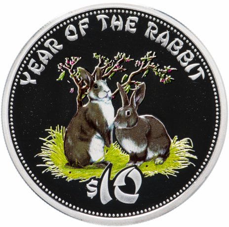"""купить Острова Кука 10 долларов 2011 """"Лунный календарь - Год кролика"""""""