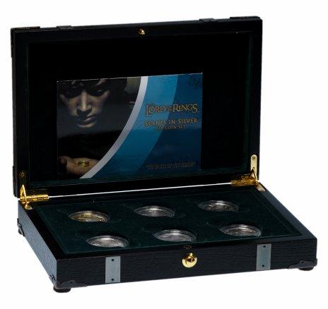 """купить Новая Зеландия набор из 6 монет 1 доллар 2003 """"Властелин колец"""" в оригинальном футляре с сертификатом"""