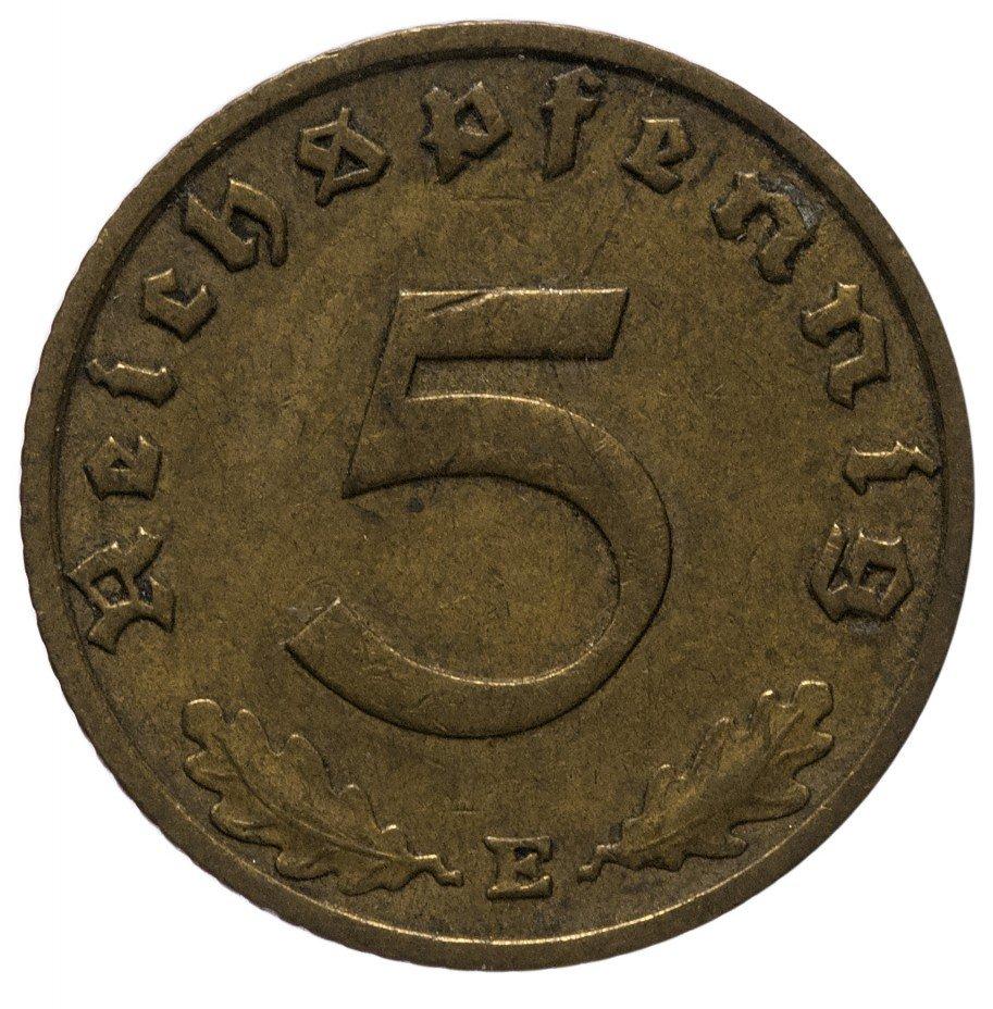 """купить 5 рейх пфеннигов 1939 """"Е"""""""