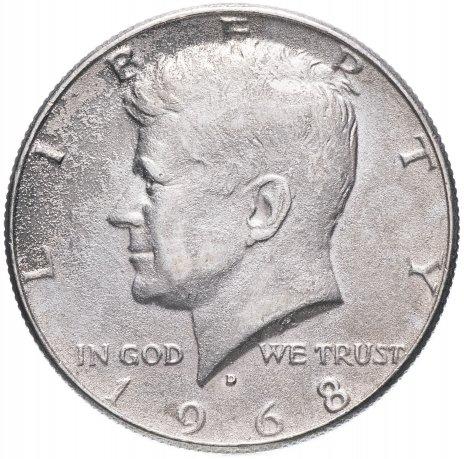 купить США  1/2 доллара (полдоллара, 50 центов, half dollar) 1965-1969 серебро Кеннеди