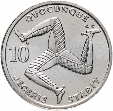 купить Остров Мэн 10 пенсов (pence) 1992