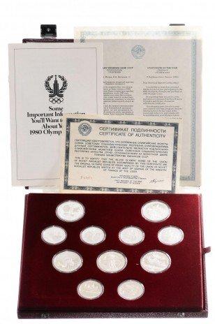 купить Набор, посвященный Олимпиаде 1980 в Москве Proof (28 монет, в фирменном боксе, с сертификатом)