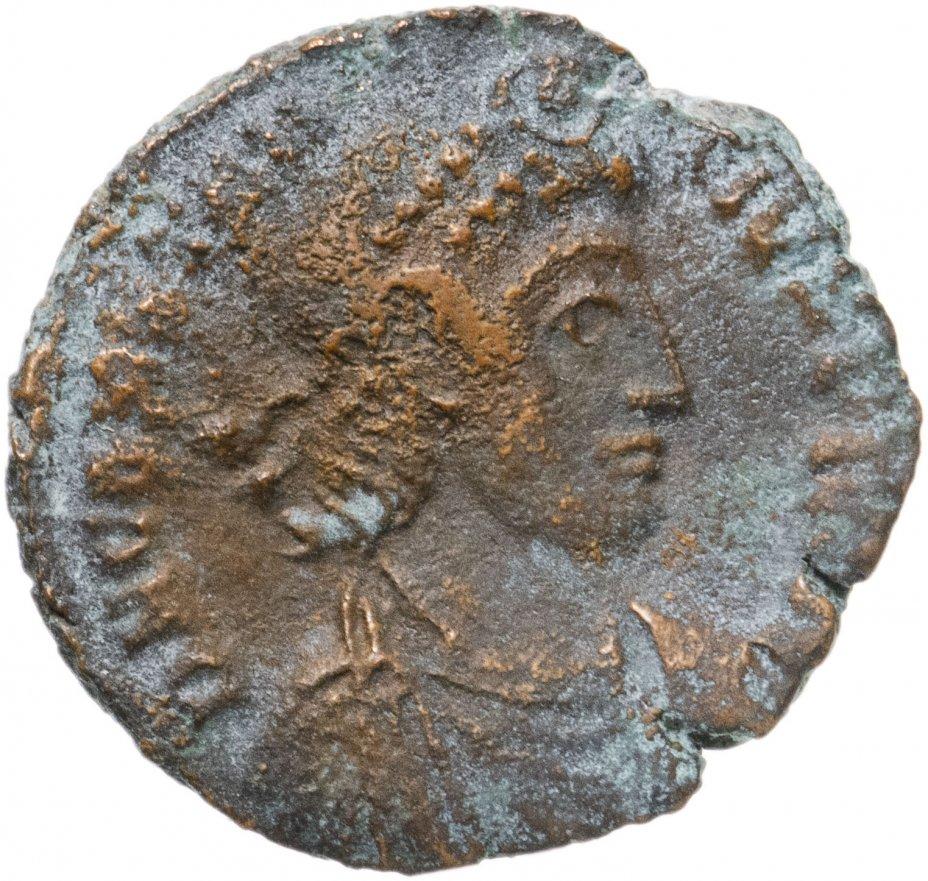 купить Римская Империя, Констанций II, 324–361 гг, центенионалий (реверс: воин поражает копьем всадника)
