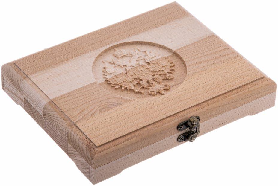 купить Футляр деревянный для 24 монет (массив бука)