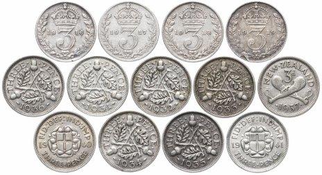 купить Великобритания набор из 13 монет 3 пенса 1916-1941