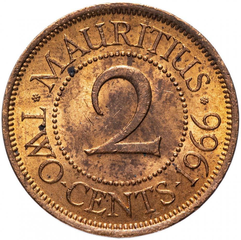 купить Маврикий 2 цента (cents) 1966
