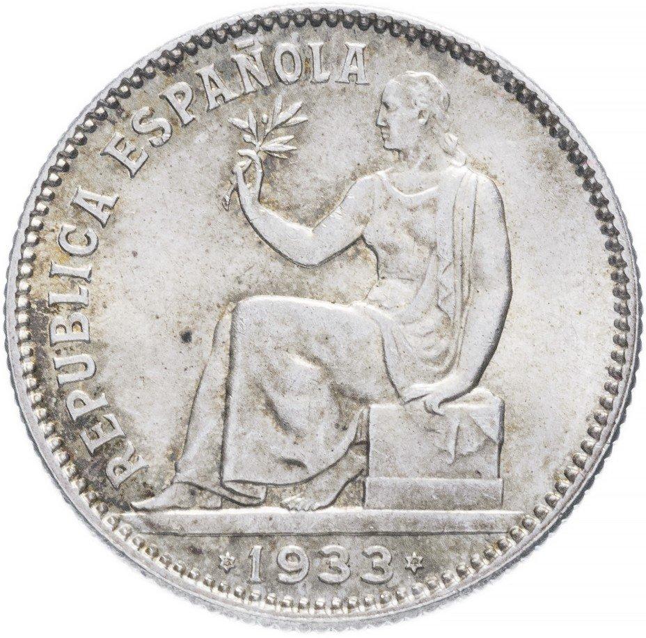 купить Испания 1 песета 1933