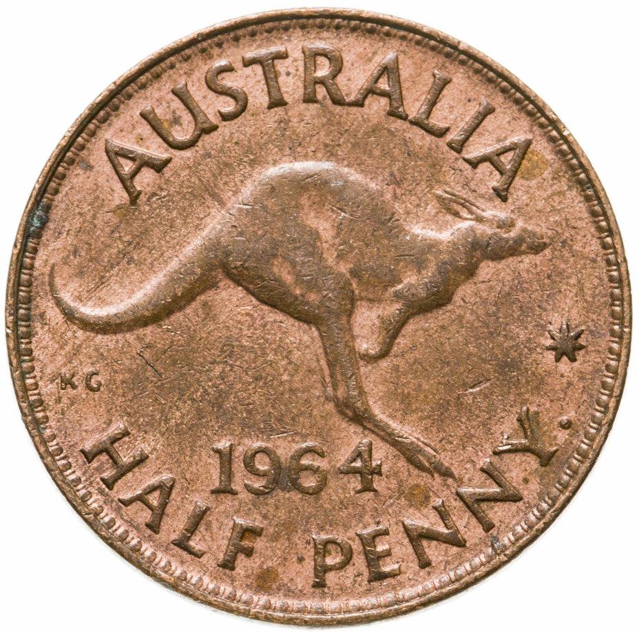 купить Австралия 1/2 пенни (penny) 1964
