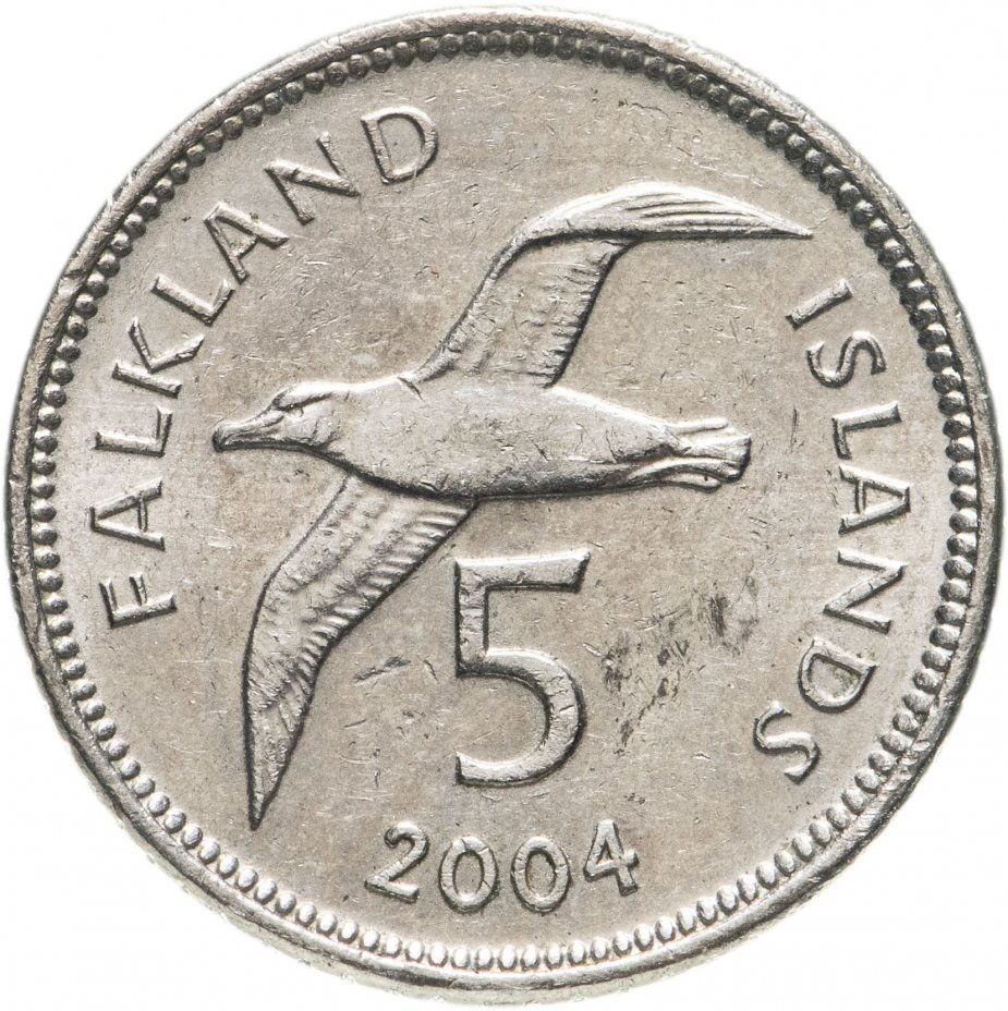 купить Фолклендские острова 5 пенсов (pence) 2004