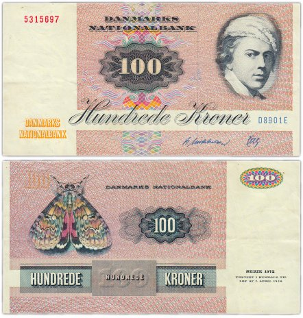 купить Дания 100 крон 1972 (1990) (Pick 51t)