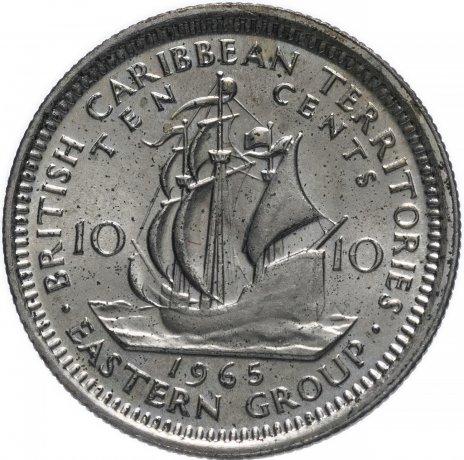 купить Британские Карибские Территории (Восточные Карибы) 10 центов 1965