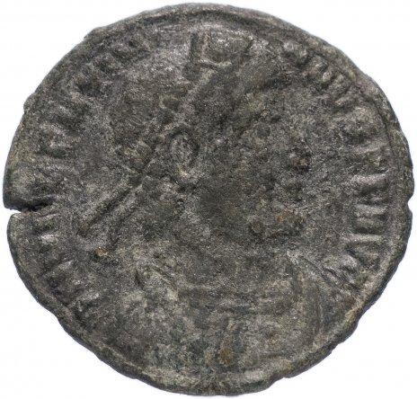 купить Римская Империя Валентиниан I 364–375 гг центенионалис (реверс: император идет вправо, волочит за волосы пленника)