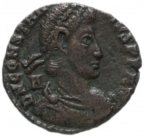 купить Римская Империя Констанций II 324–361 гг фоллис (?) (реверс: воин поражает копьем всадника)