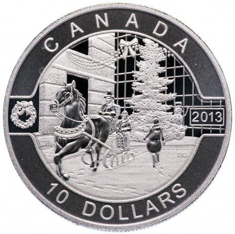 """купить Канада 10 долларов 2013 """"Рождество и новый год"""""""