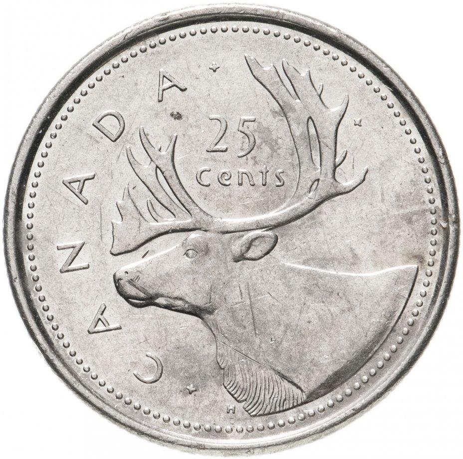 """купить Канада 25 центов (cents) 2002 """"50 лет правления Королевы Елизаветы II"""""""
