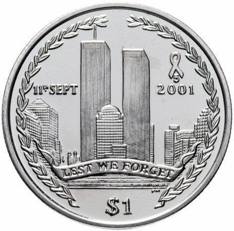 купить Британские Виргинские острова 1 доллар (dollar) 2006 9/11-Всемирный торговый центр 5 лет трагедии