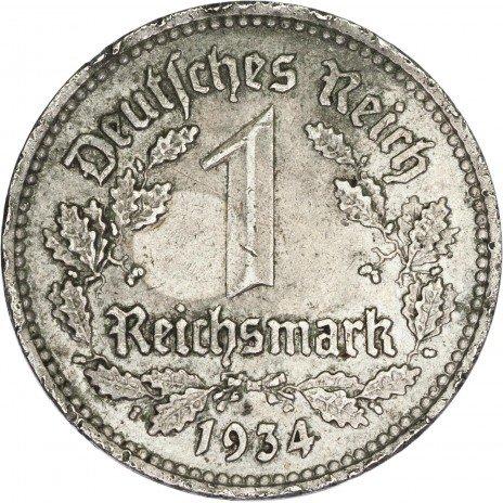 купить Третий Рейх 1 марка 1934 год