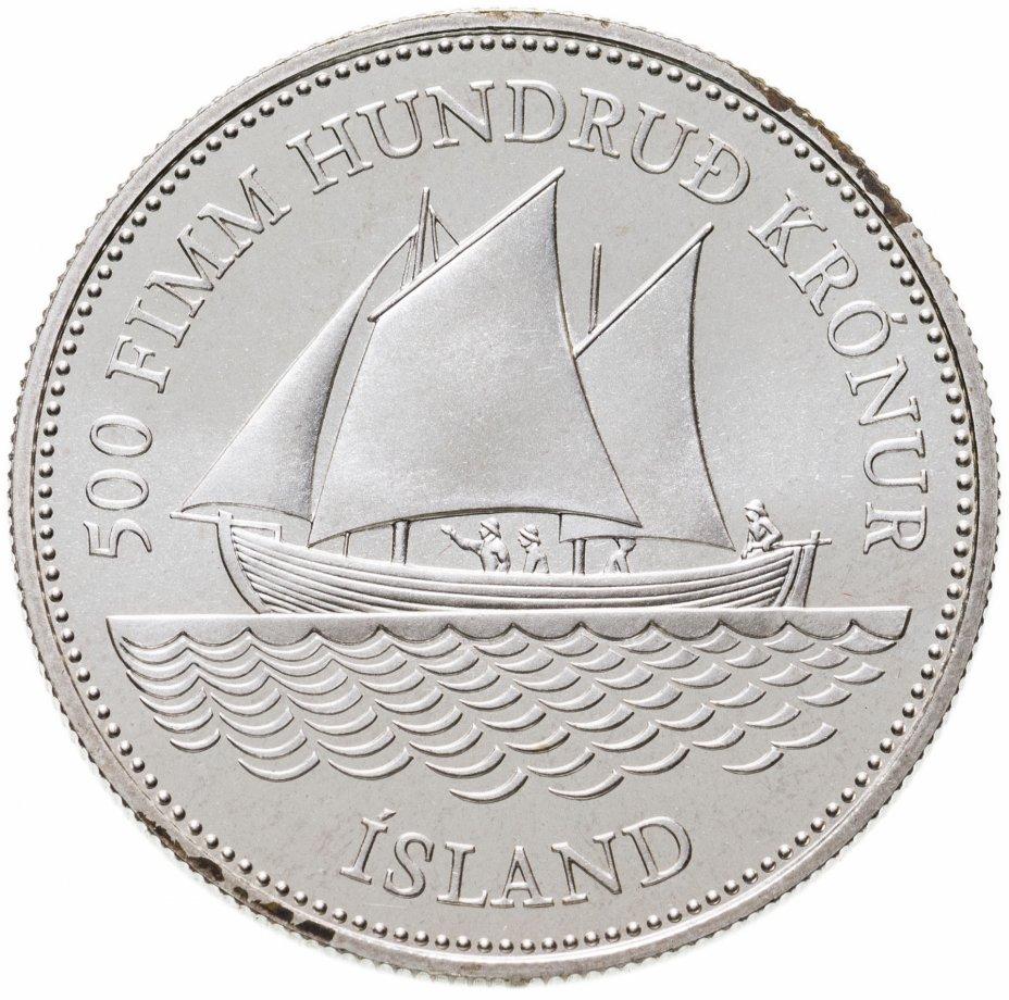 купить Исландия 500 крон (kronur) 1986  100 лет банкнотам Исландии