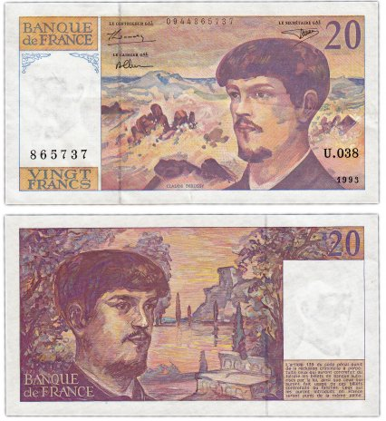 купить Франция 20 франков  1993 (Pick 151g)