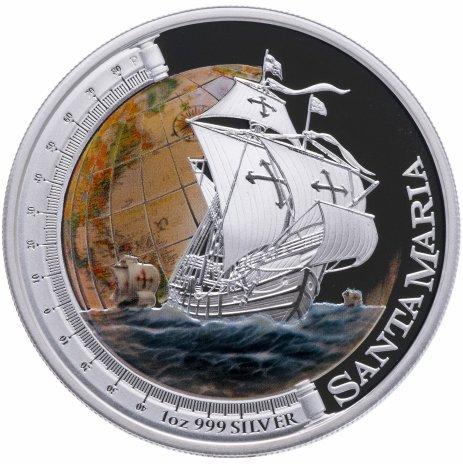 """купить Тувалу 1 доллар 2011 """"Санта Мария"""" в упаковке с сертификатом"""