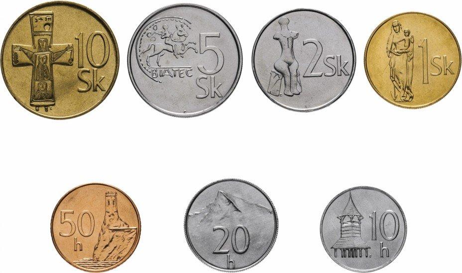 купить Словакия набор монет 1994-2007 (7 штук)