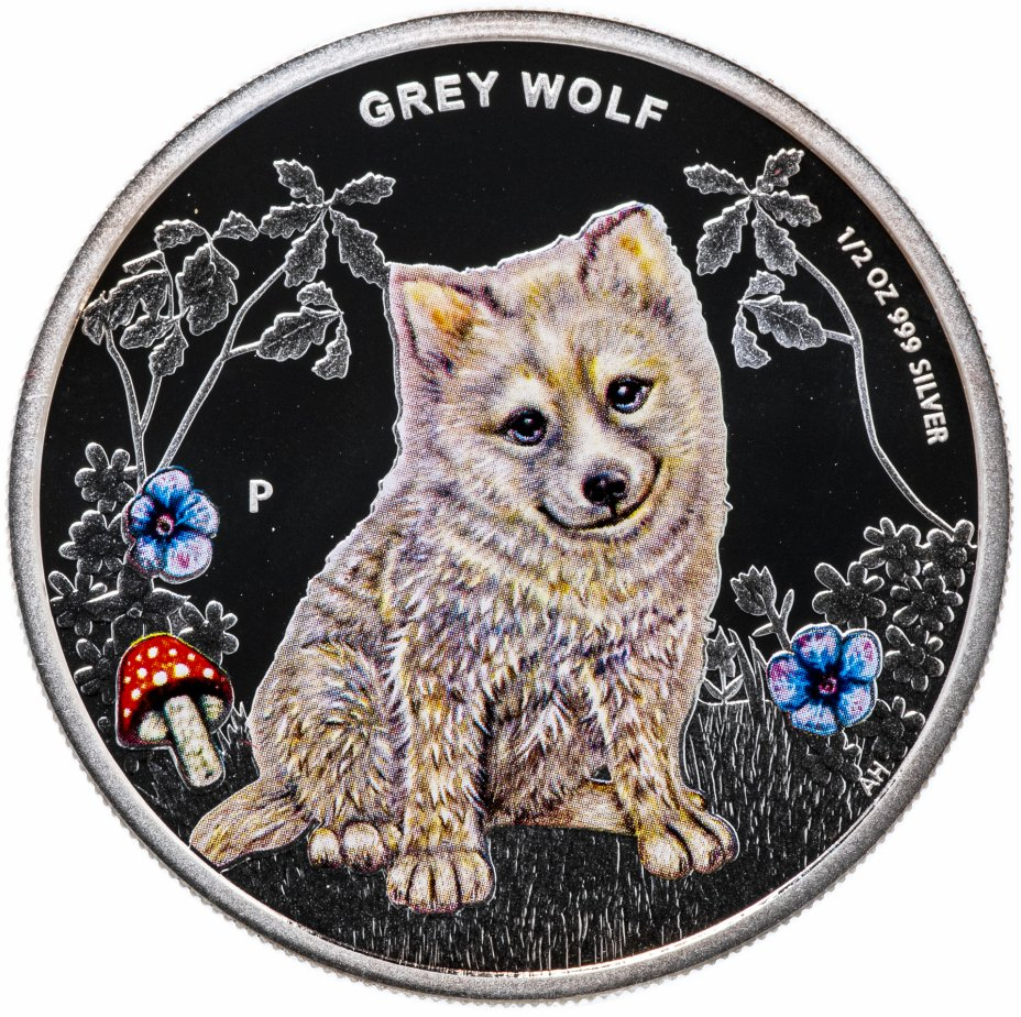 """купить Тувалу 50 центов 2013 """"Детеныши леса - Серый волк"""""""