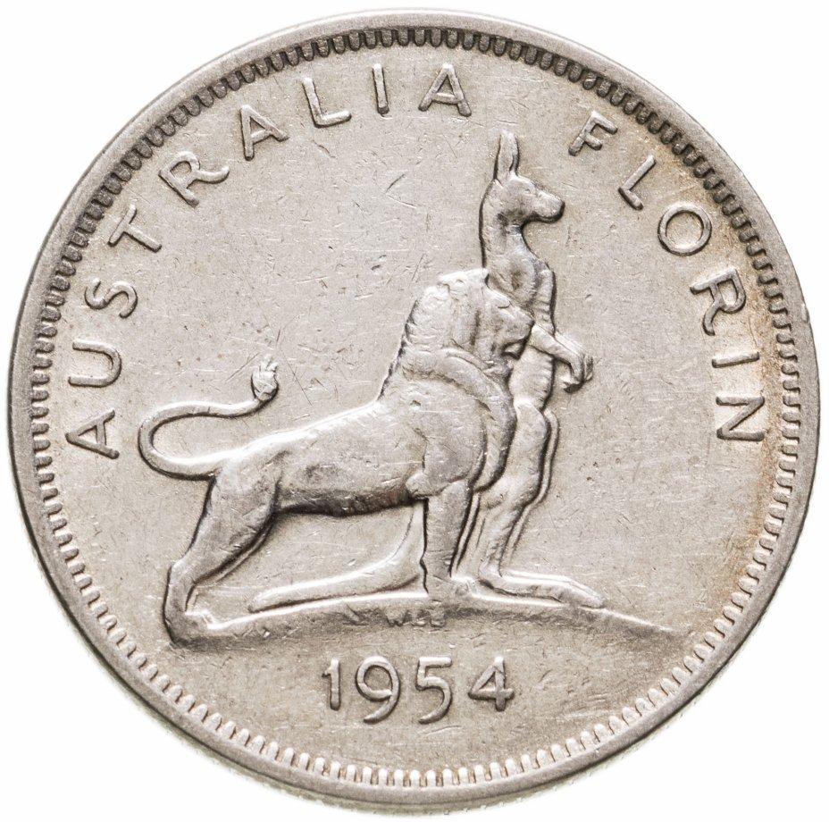 """купить Австралия 2 шиллинга (флорин, shillings) """"Визит королевы Елизаветы II в Австралию"""""""