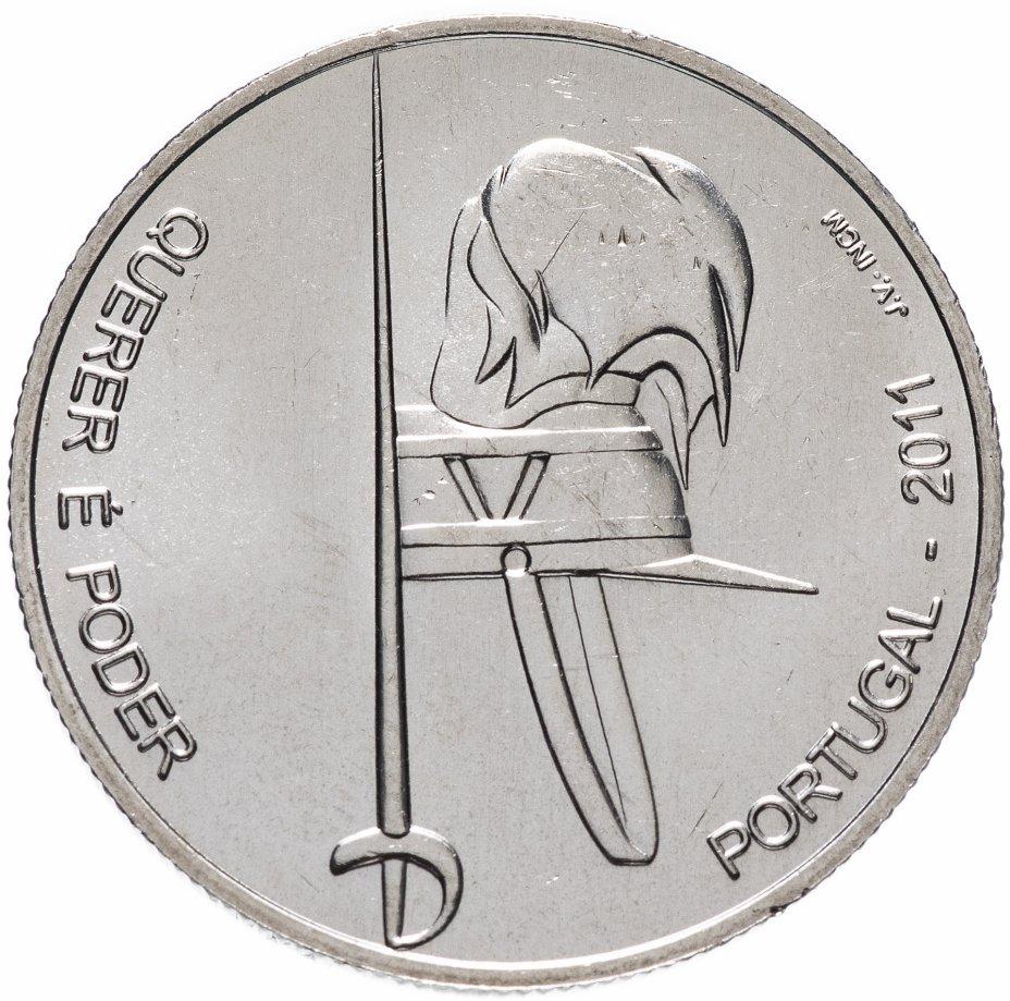"""купить Португалия 2,5 евро (euro) 2011 """"100 лет Военному институту армейских курсантов"""""""