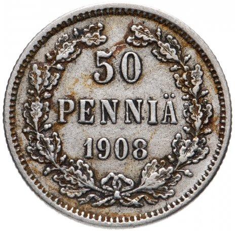 купить 50 пенни 1908 L, монета для Финляндии