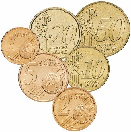 купить Германия набор монет от 1 до 50 евро центов 2002 A (6 штук)