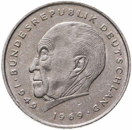 """купить Германия 2 марки 1977 F Конрад Аденауэр, 20 лет Федеративной Республике (1949-1969) знак монетного двора: """"F"""" - Штутгарт"""