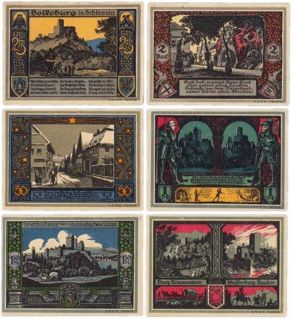купить Германия (Силезия: Болькенхайн) набор из 6 нотгельдов 1922 (137.2/B1)
