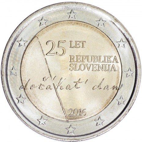 """купить Словения 2 евро 2016 """"25 лет неависимости"""""""
