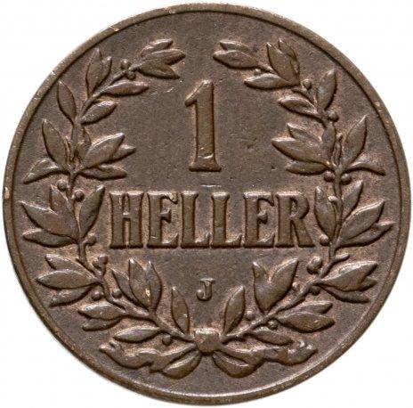 купить Германская Восточная Африка 1 геллер (heller) 1908 J
