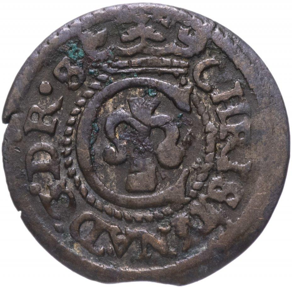 купить Шведская Ливония 1 солид 1632-1654, королева Кристина