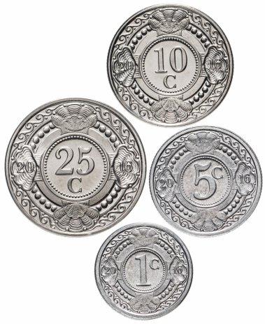 купить Нидерландские Антильские острова набор монет 2016 (4 шт.)