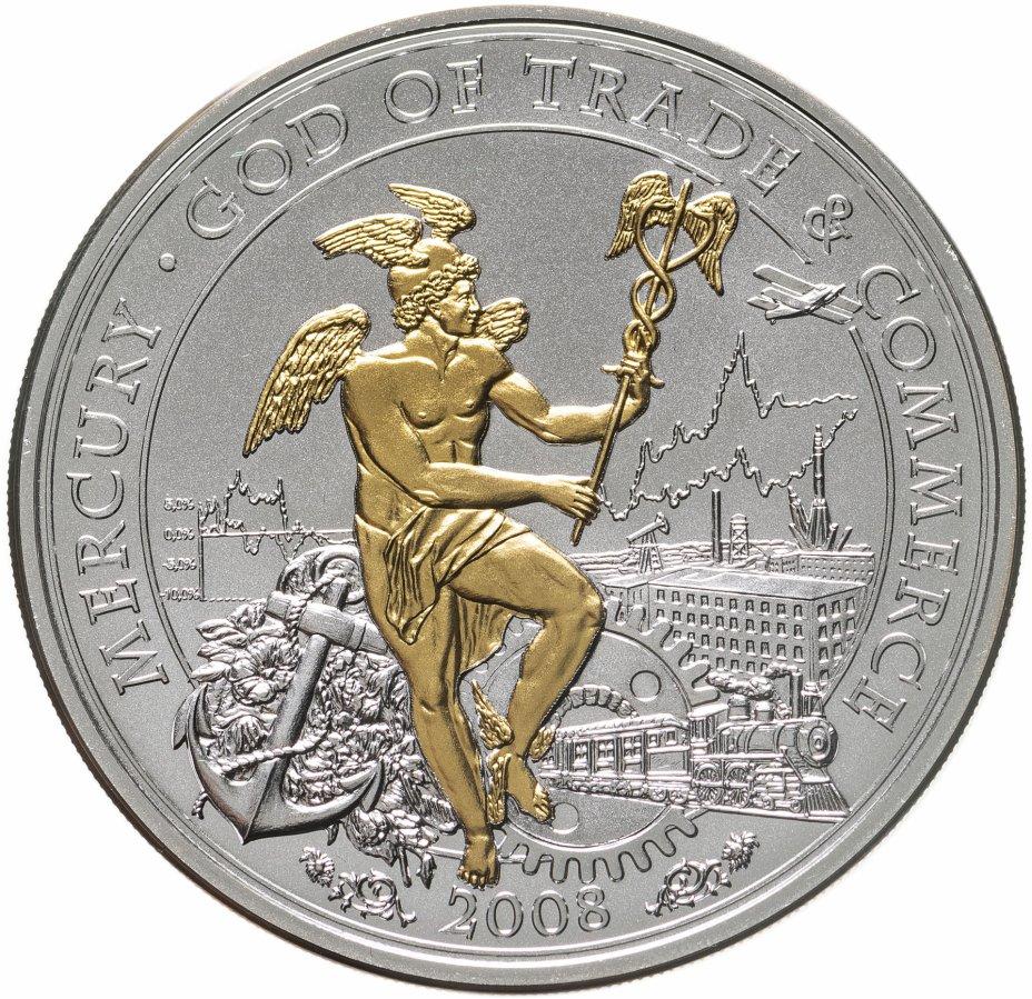 купить Острова Кука 10 долларов 2008 UNC «Бог торговли-Меркурий»