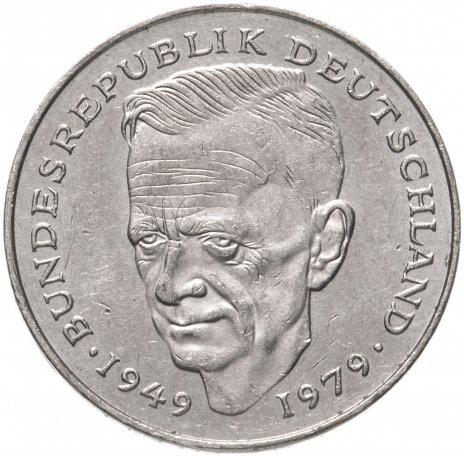 """купить Германия (ФРГ) 2марки (mark) 1989 G  """"Курт Шумахер, 30 лет Федеративной Республике"""""""